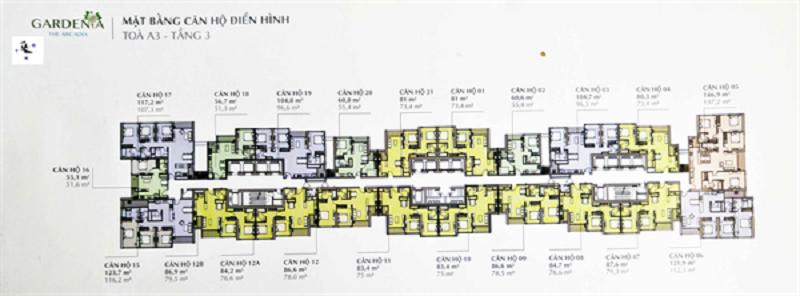 Bản vẽ Vinhomes Gardenia căn hộ A3