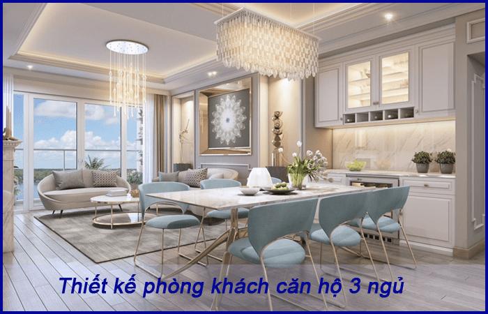 Thiết kế căn hộ 3 phòng ngủ tại Vinhomes Galaxy 4