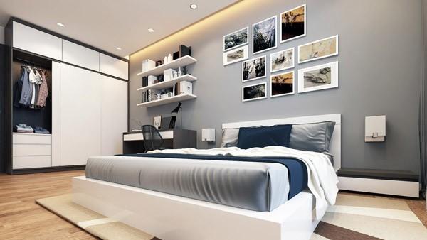 Phòng ngủ tràn ngập ánh sáng và gió tự nhiên